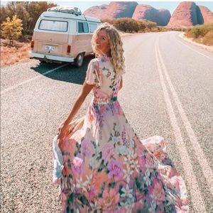 Bohemian Floral Wrap Dress